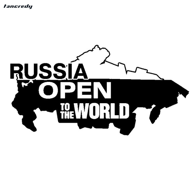 3d funny russia open to the world car stickers 23 512cm fashion motorcycle decals vinyl