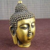 Chinese Feng Shui decoration house brass Buddha head