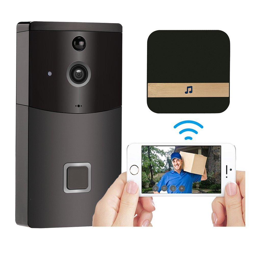 2.4GHz WiFi Video Doorbell HD 720P Camera Smart Speaker Night Vison Motion Detetion Wake-up For IOS/Android Viewing2.4GHz WiFi Video Doorbell HD 720P Camera Smart Speaker Night Vison Motion Detetion Wake-up For IOS/Android Viewing