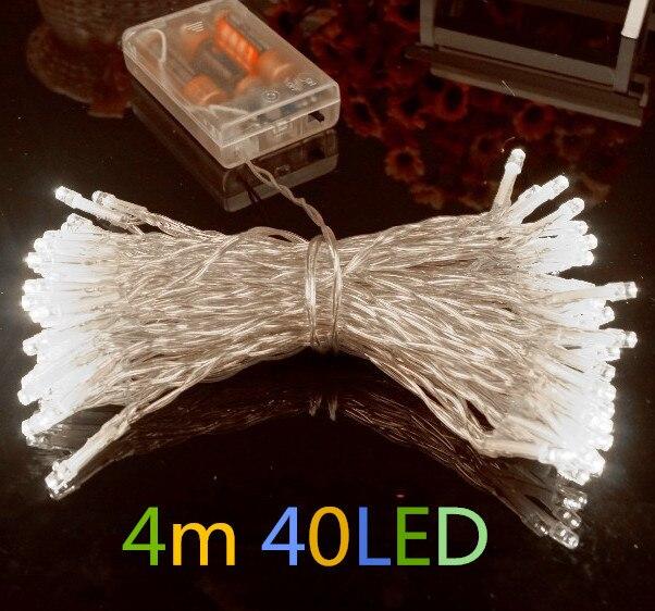 Outdoor Festival Christmas Decoration LED String Battery Operated PVC Tube Shape Fairy Lights 20LEDs 30LEDs 40LEDs 50LEDs