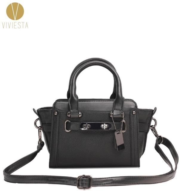 DOUBLE TURN-LOCK CROSSBODY BAG – Women's Fashion 2015 Designer Colorful PU Small Shoulder Satchel Cross Body Sling Bag Handbag