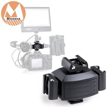 Micnova mq-tha aleación de aluminio pro trípode zapato soporte adaptador de montaje de cámara para luces, Monitores LED, micrófonos, Audio Recorde
