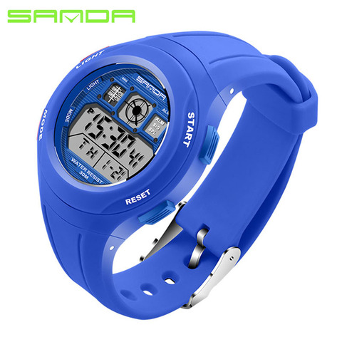 SANDA Brand Children Watches LED Digital Multifunctional Waterproof Wristwatches Outdoor Sports Watches for Kids Boy Girls #331 Karachi