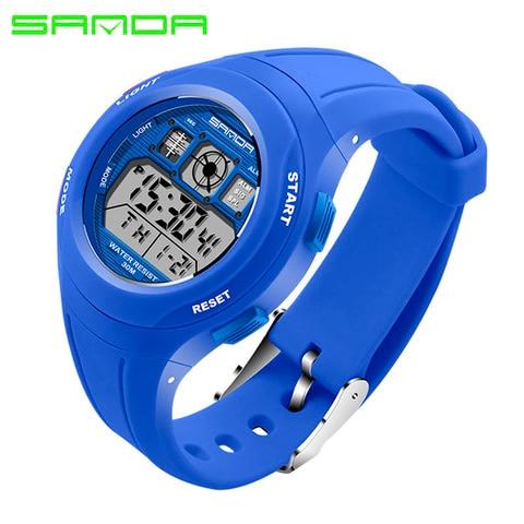 SANDA Brand Children Watches LED Digital Multifunctional Waterproof Wristwatches Outdoor Sports Watches for Kids Boy Girls #331 Karachi