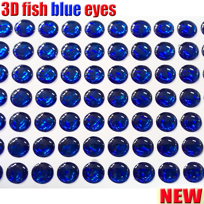 2018new 3d holographic fishing lure eyes fly tying jig lure bait eyes solid color fish eyes 500pcs lot color BLUE in Fishing Lures from Sports Entertainment