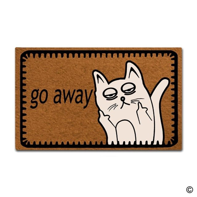 MsMr Entrance Floor Mat Funny Door Mat Go Away Cat Home Decorative Indoor Outdoor Doormat Non  sc 1 st  AliExpress.com & MsMr Entrance Floor Mat Funny Door Mat Go Away Cat Home Decorative ...