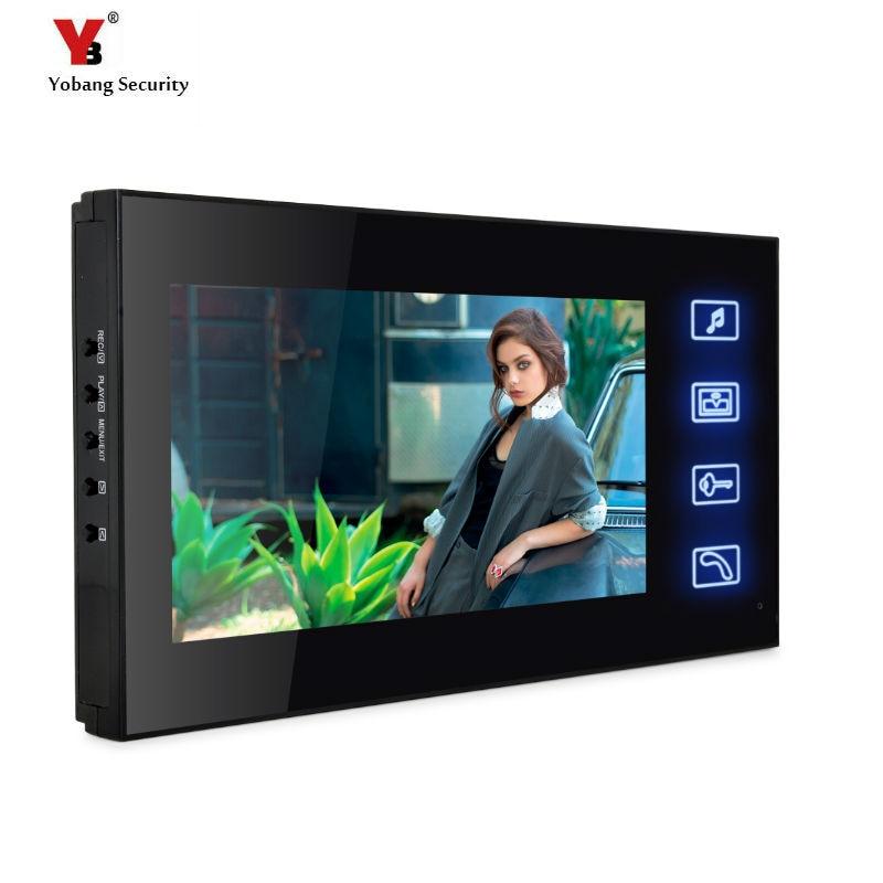 Yobang Security Freeship  7-inch Monitor For Video Doorphone Doorbell Only Indoor Machine For Door Intercom With Video Recording