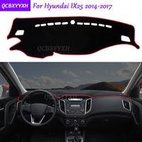 For Hyundai IX25 2014 2017 Dashboard Mat Protective Interior Photophobism Pad Shade Cushion Car Styling Auto
