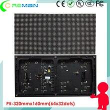Coreman Крытый высокой яркости SMD3528 светодиодный модуль P5, p5 Крытый 320x160 СВЕТОДИОДНЫЙ модуль led матрица 64x32 led видео панель