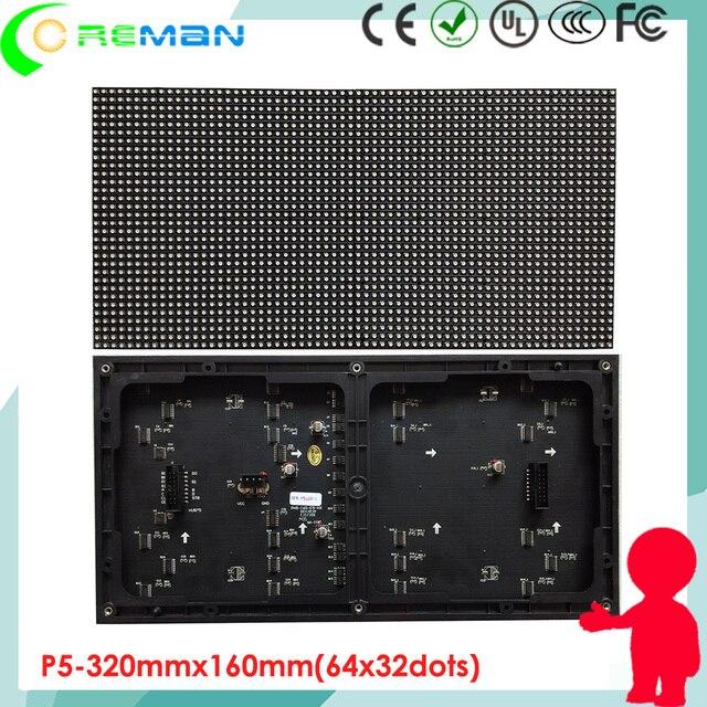 cheap P5 indoor 32x64 led module  , SMD3528 led module P5 Indoor high brightness  160x320mm led matrix full color hub75 1/32S