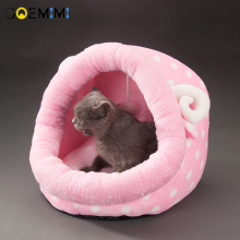 New Pet Cat Warm House Lovely Pink Bed For puppy Fleece Sofa Mats Cushion Winter Comfortable