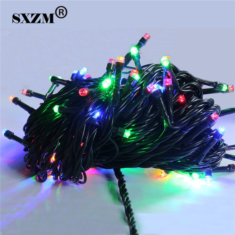 Romantic 10M 80Leds AC220V Waterproof Christmas light EU plug fairy outdoor decoration lamp for Party,Wedding,Birthday etc