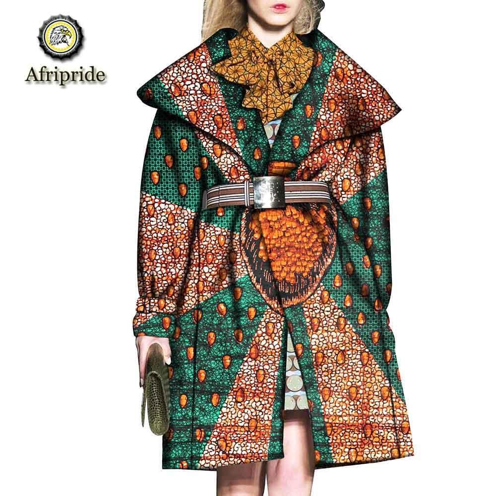 2019 アフリカのコート AFRIPRIDE バザンリッシュアンカラプリント純粋な綿プライベートカスタムワックスバティックサッシコート S1824020  グループ上の レディース衣服 からの ベーシックジャケット の中 1