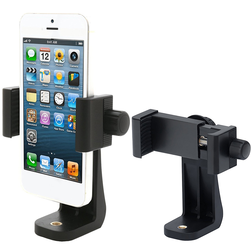 Universal 360 Degree Vertical And horizontally Rotation Tripod Mount Adapter Scalable Clipper Holder For CellPhone