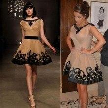 Sexy Gossip Girl Neue Kim Kardashian Kleid Schwarze Perlen Scoop Flügelärmeln Kurz Celebrity Dress Vestidos Teppich Cocktailkleid