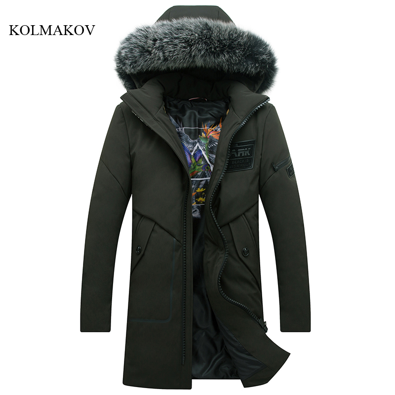 New arrival winter style men boutique down coats fashion casual slim hooded hair collar coat men solid zippers coat size M-3XL