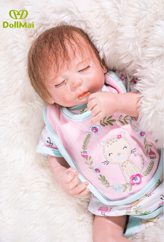 DollMai real baby dolls reborn 50cm soft cloth body silicone reborn baby dolls girls child gift Bebes reborn realista bonecaDollMai real baby dolls reborn 50cm soft cloth body silicone reborn baby dolls girls child gift Bebes reborn realista boneca