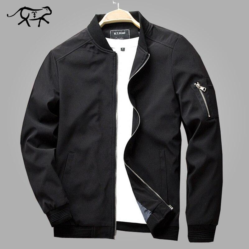 Autumn Bomber Jacket Men Casual Slim Fit Pilot Coat Male Fashion Men Clothes Jackets New Brand Zipper Overcoats Plus Size 4XL