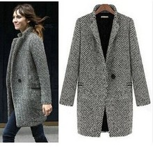 2016 new women's high-grade wool coat Slim long-sleeved jacket sent free