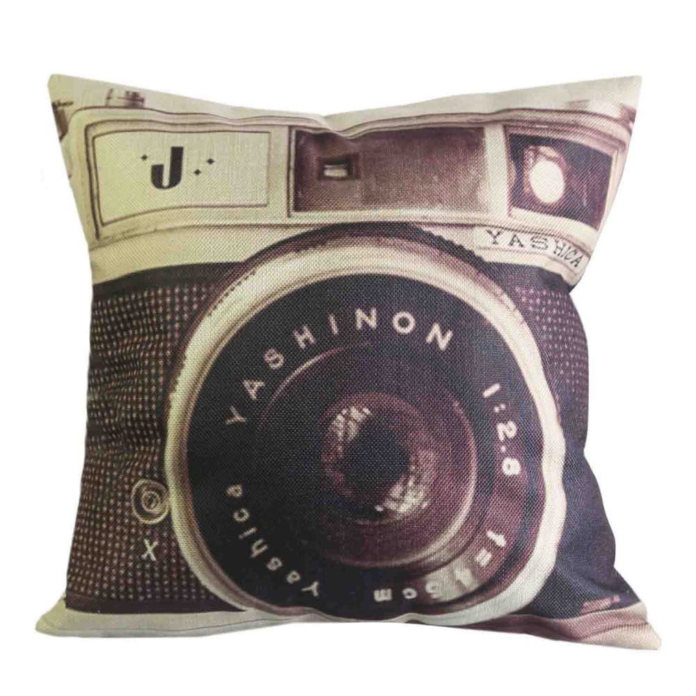 Aliexpress.com : Buy 1 Pcs 45*45cm Fashion Camera Cushions Linen Cushion  Cover Creative Camera Lens Pillow For Living Room Bed Room from Reliable  cushion ...