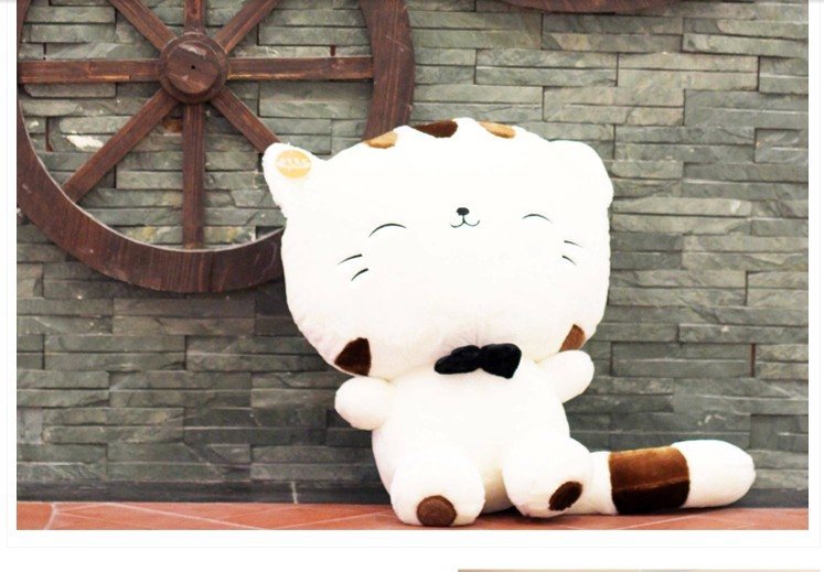 Stuffed Animal Lucky Cat Tie Soft Hello Kitty White Plush Toy 28cm