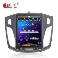 HANGXIAN Вертикальная 10,4 Quadcore Android 4,4 радио автомобиль Ford Focus 2012 2015 dvd плеер автомобиля с 1 г Оперативная память 32 г Встроенная память