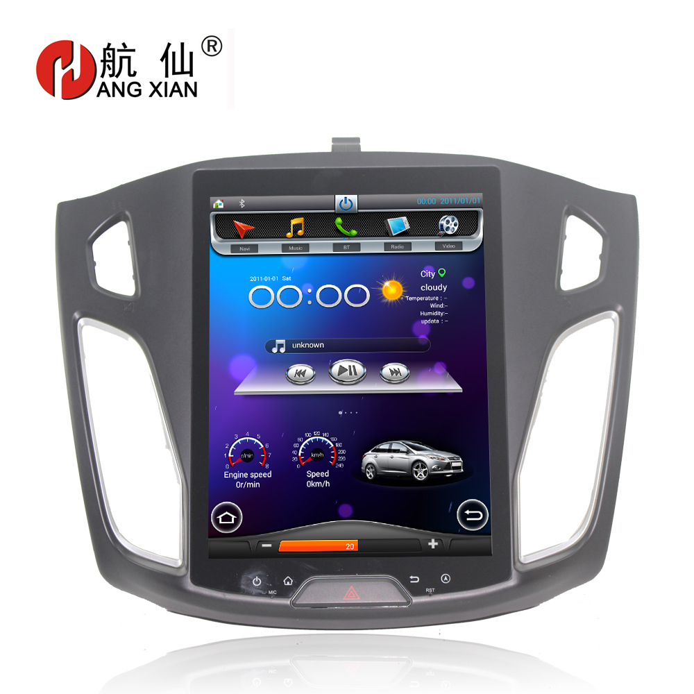 HANGXIAN Vertical 10.4 Quadcore Android 4.4 Car Radio For Ford Focus 2012 2015 Car DVD player with 1G RAM 32G ROM