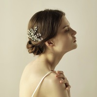 Handmade Hair Combs Women S Hair Jewelry Marriage Wedding Accessories Bridal Headdress Gold Silver Floral O836