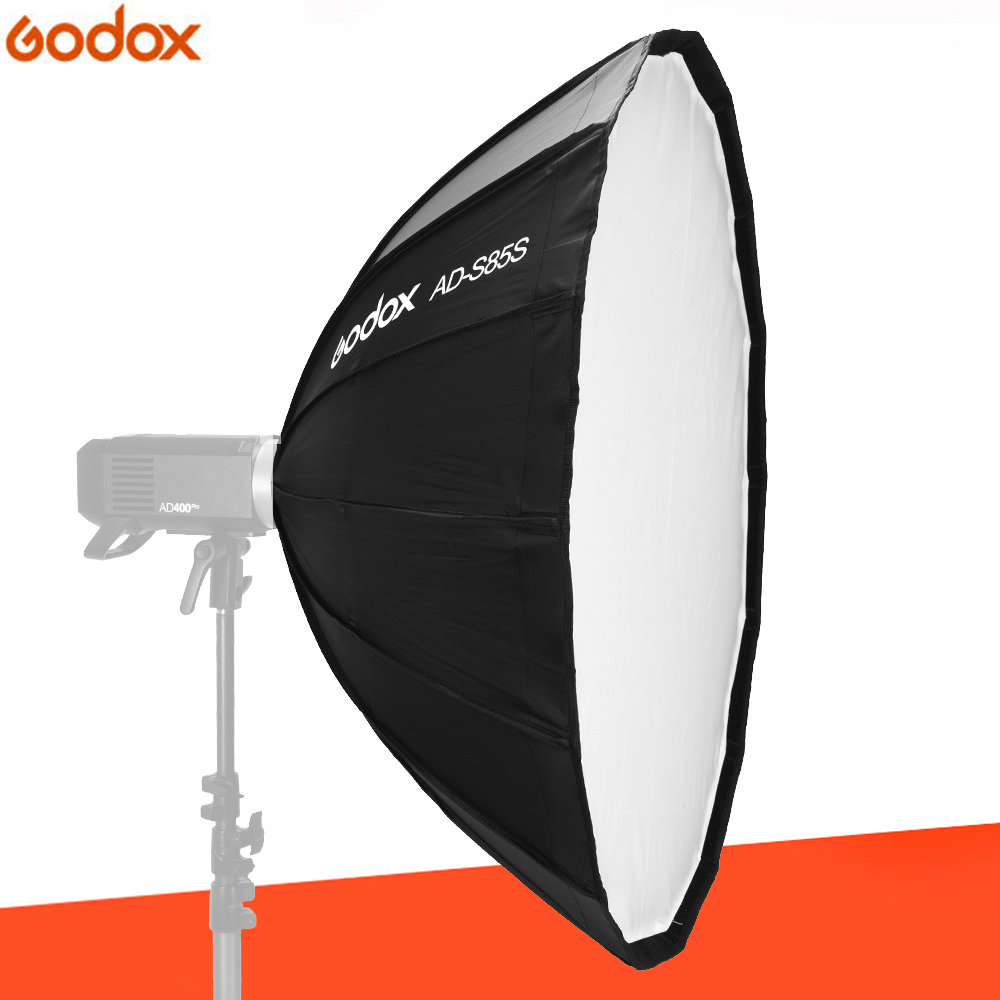 Godox 85cm AD-S85S built-in silver softbox with honeycomb grid Godox Mount softbox for AD400PRO flashGodox 85cm AD-S85S built-in silver softbox with honeycomb grid Godox Mount softbox for AD400PRO flash