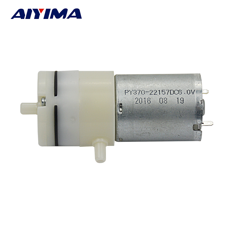 Aiyima DC6V 370 Mute Food grade Self-priming Diaphragm Pump Water Pump Vacuum Micro Air Pump 2be1 2be3 water ring vacuum pump