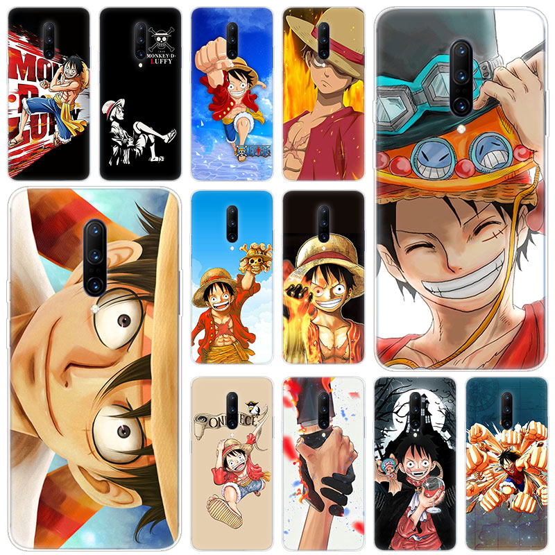 Hot One piece monkey d luffy Soft Silicone Fashion Transparent Case For font b OnePlus b