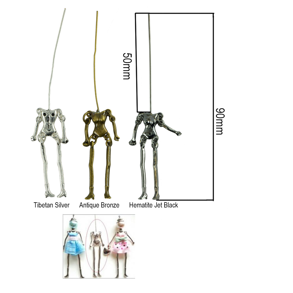 24pcs DIY Dolls Skeleton Jewelry Making Findings Bracelet Keychain Pendant