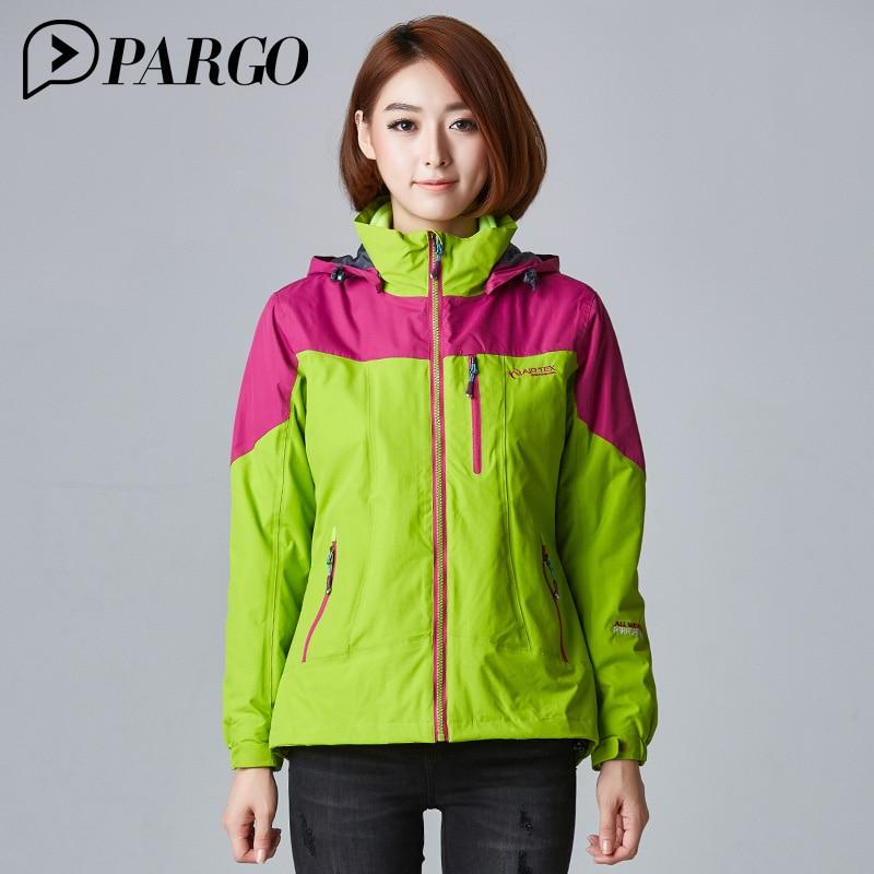 PARGO Winter Female Jackets Inner Softshell jacket For Women 3 In 1 Hooded Coats Waterproof Jacket Windbreaker For Cycling W6728