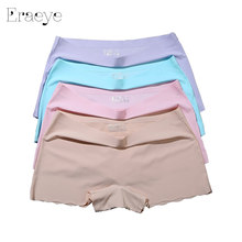 ERAEYE 4pieces/lot Women's Safety Short Pants Female Purple Underpants Woman Sexy Women Panties Ladies Knickers Female 3036(China)