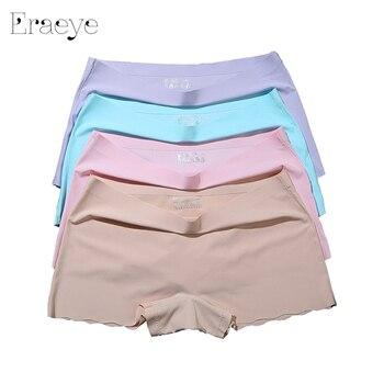 ERAEYE 4pieces/lot Women's Safety Short Pants Ladies Knickers Underwear Purple Woman Comfort Panties Woman Seamless Safety Pants women's panties