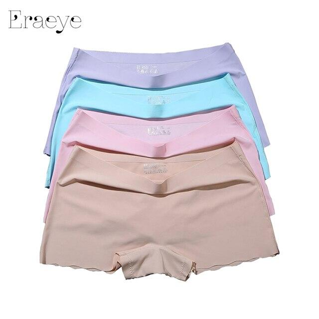 Eraeye 4 шт./лот Для женщин Облегающие шорты женский фиолетовый под Штаны женские пикантные Для женщин Трусики для женщин женские Панталоны женские 3036