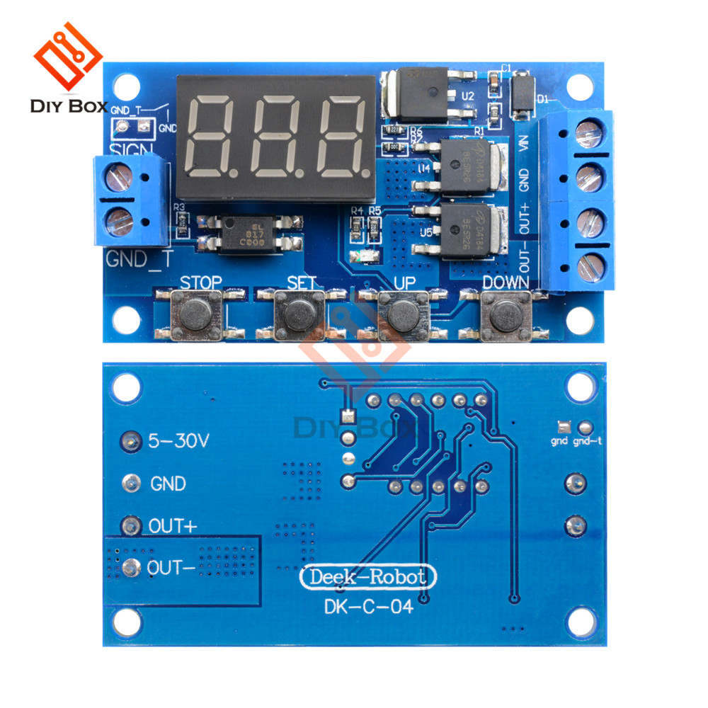 Dc 12v 24v Time Delay Relay Switch Module Trigger Cycle Circuit Timer Board Dual Mos Tube Control Motor Led Light Micro In Relays From Home