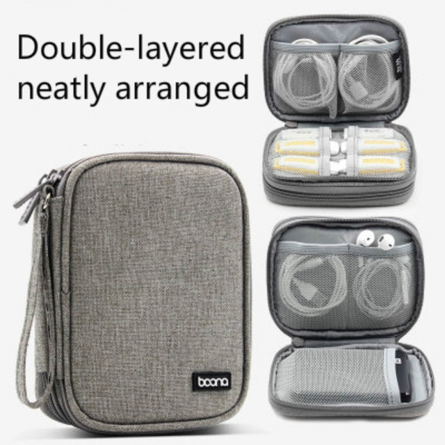 Travel Universal Cable Organizer Box Electronics Accessories Cases Gadget Bag For USB Phone Charger and Cable Fit for hard disk