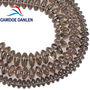 Smoky Quartz Crystal Rondelle Spacer Beads Abacus Loose Beads For Bracelets Necklace Jewelry Making Accessories 6 8 10mm(China)