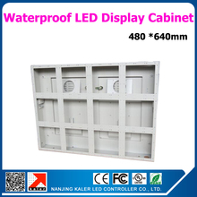 640*480mm  waterproof standard display cabinet for semi-outdoor outdoor led display white color aluminum led display frame