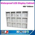 640 * 480 мм водонепроницаемый стандарт витрина для полу-открытый из светодиодов дисплей белого цвета алюминия из светодиодов рамка дисплея