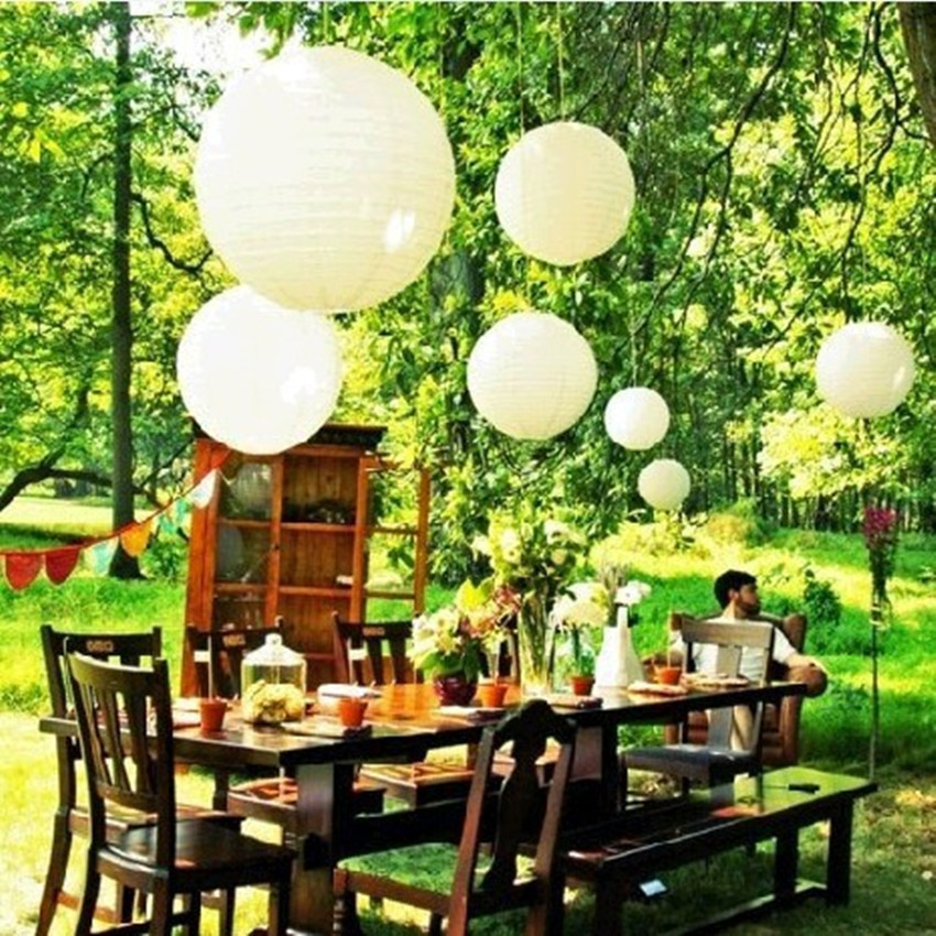 Paper Lanterns Wedding Decoration Ideas: 10pc 4inch 10cm Paper Lantern Round Lantern Lamp Wedding