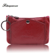 Mini Women Wallets Genuine Leather Wallets Female Credit Card Coin Purse Holder Small Women Purses Key Holder Portefeuille Femme