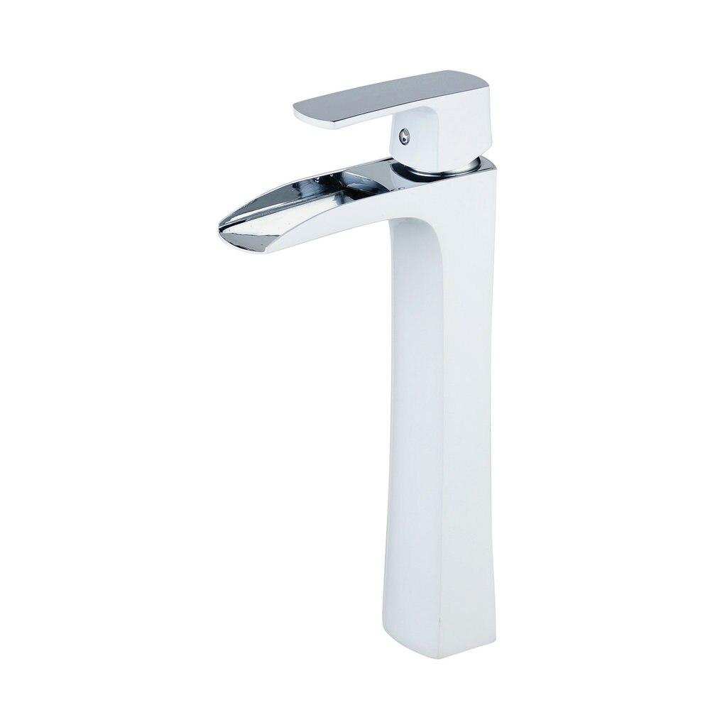 Beelee BL0556 mitigeur de salle de bain avec cascade à un seul trou robinet mitigeur avec évier sans débordement, robinet de lavabo - 3