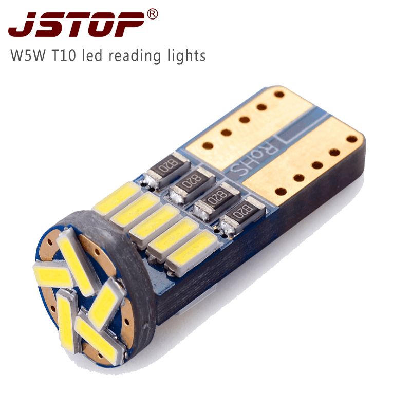 JSTOP <font><b>100X</b></font> wholesale fit all car led Trunk lamp dome bulbs 12VAC width light W5W <font><b>T10</b></font> Factory production car led Reading lamps image