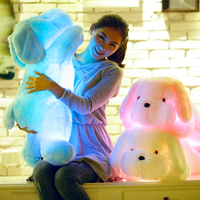 50cm Luminous Dog Plush Doll Colorful LED Glowing Dogs Children Toys For Girl Kids Birthday Gift