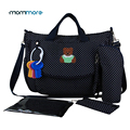 mommore 2017 New Diaper Bag Dot Nappy Bag With Changing Pad Mother Tote Bags Mummy Handbags Waterproof Baby Stroller Bag