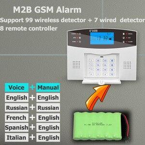 Image 5 - Système dalarme de sécurité domestique filaire/sans fil, GSM, 433MHz, détecteur, capteur vocal, anglais, russe, espagnol, français, italien
