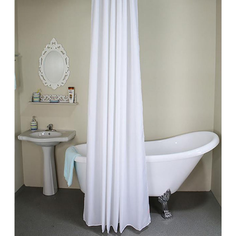 Solid Polyester Shower Curtain Eco Friendly Shower Curtains Waterproof  Curtain For The Bathroom White Beige Rideau De Douche In Shower Curtains  From Home ...