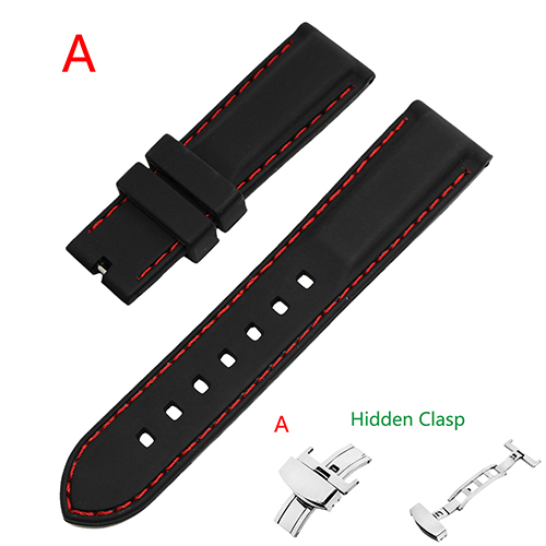 Rubber Silicone Watch Band for Cartier 18mm 20mm 22mm 24mm Wrist Strap Loop Resin Bracelet Belt Red Black Men Women + Pin + Tool | Watchbands